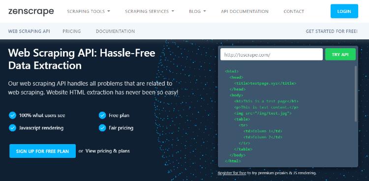 Review: Zenscrape Web Scraping API
